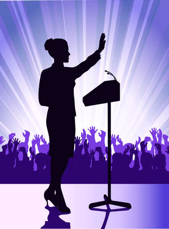 person before a microphone Stock Vector - 17442745