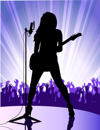 singer at the microphone Stock Vector - 17504796