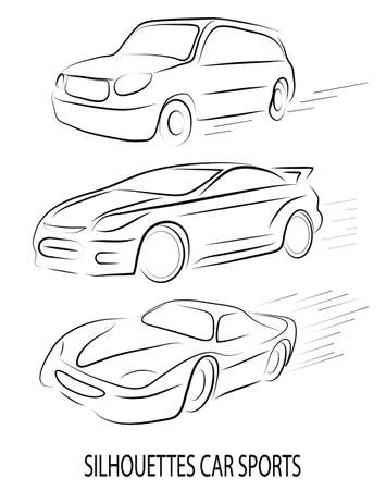 animated film: abstract silhouette of cars
