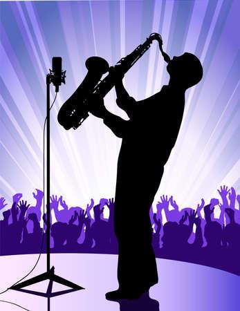 the performer: jazz performer Illustration