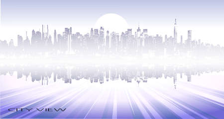 abstract panorama of the city Stock Vector - 17593031