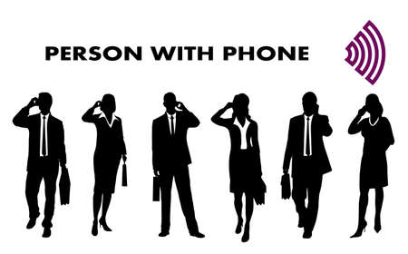 paper art projects: person with the mobile phone
