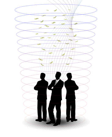 businessmen in an abstract funnel Stock Vector - 17711950