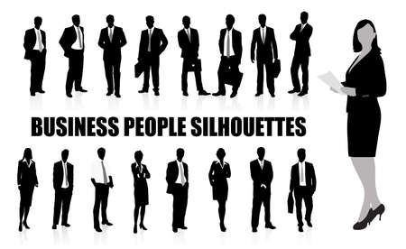 silhouettes of businessmen Stock Vector - 17711938