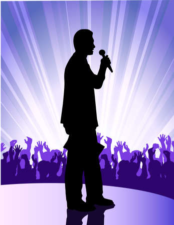 soloists before public Stock Vector - 17711954
