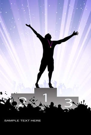 exited: silhouette of the champion