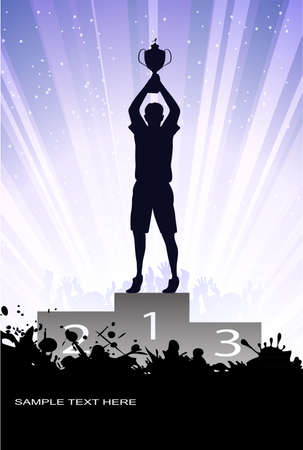 silhouette of the champion Stock Vector - 17857933