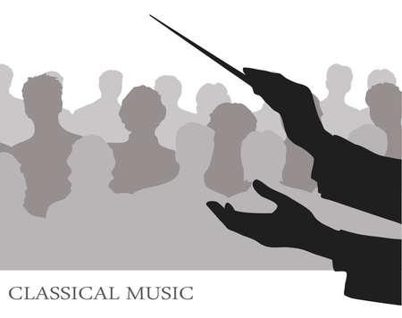 orquesta: conductor antes p�blico