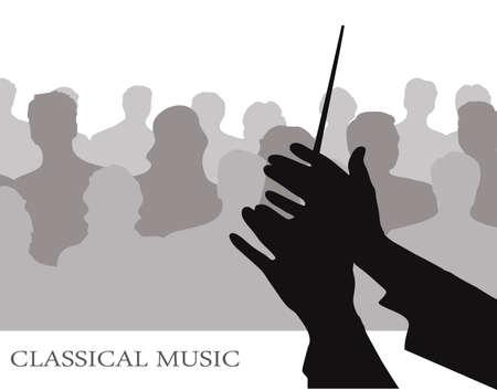 chef d orchestre: conducteur avant publics