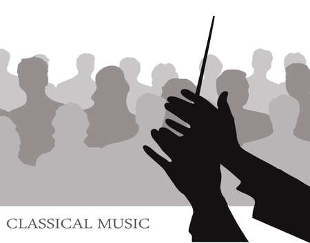 classical music: conductor before public