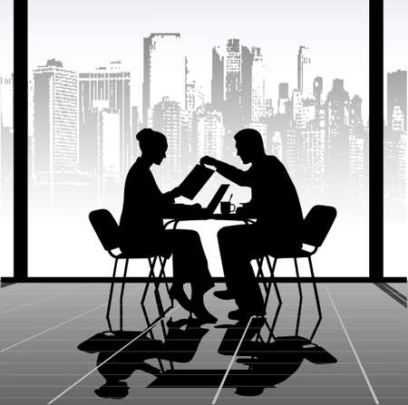 dating strategy: business meeting