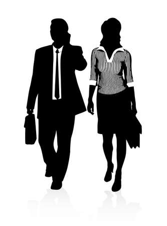 situation: silhouettes of businessmen