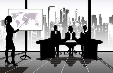 corporate women: on the image the presentation is presented business