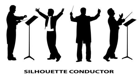 silhouette of conductor Stock Vector - 18081975
