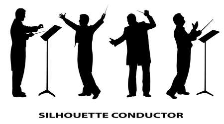 chef d orchestre: silhouette du conducteur