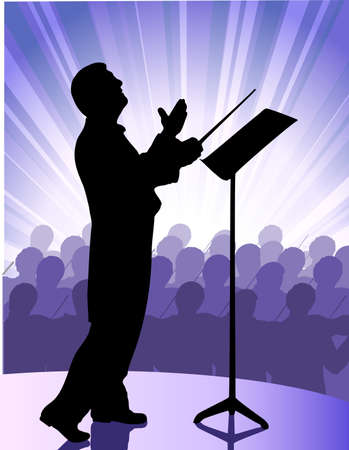 classical theater: conductor before public