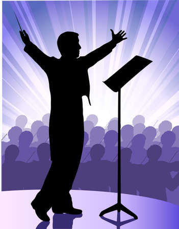 conductor before public Stock Vector - 18082020