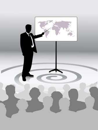 mature business man: presentation Illustration