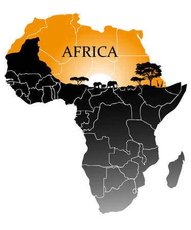 southern africa: continent Africa Illustration