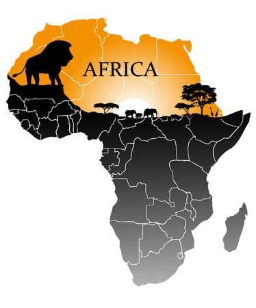 Kontinent Afrika Vektorgrafik