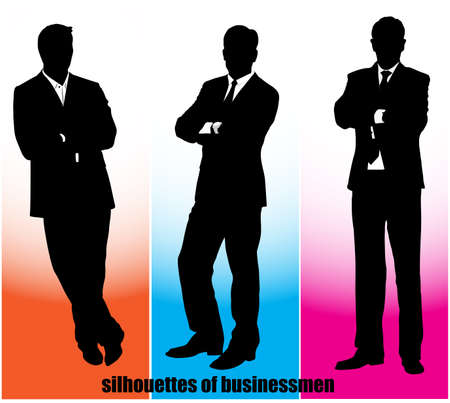 silhouette businessman Vector