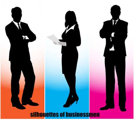 silhouette businessman Stock Vector - 18098275