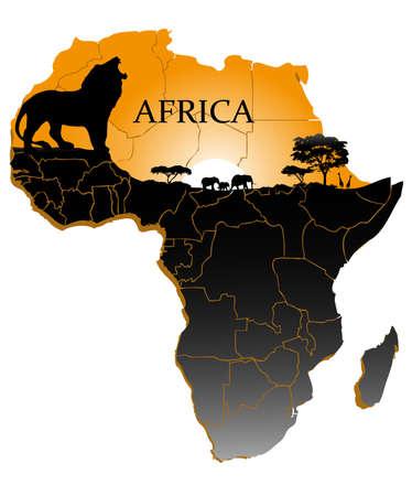 continent Africa Иллюстрация