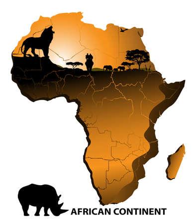 continent Africa Illustration