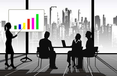 senior business man: presentation Illustration