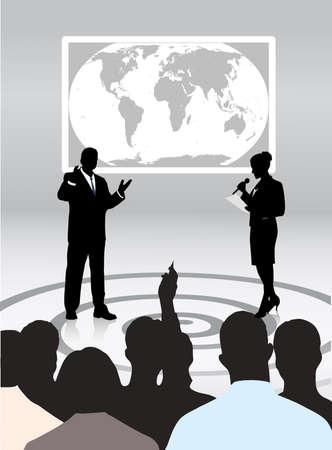 teaching adult: people address audience