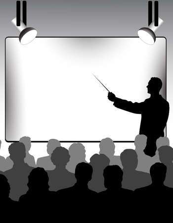 school classroom: presentation Illustration