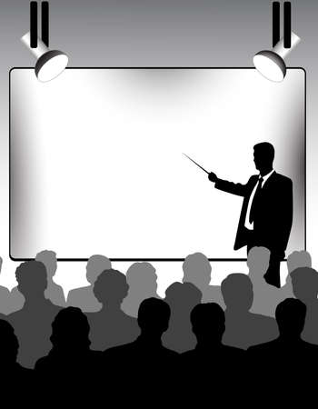 conference audience: presentation Illustration