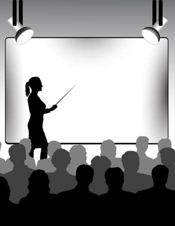 teaching adult: presentation Illustration