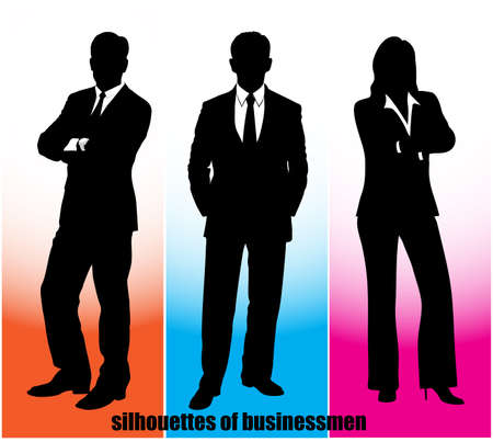white clip: silhouette businessman Illustration