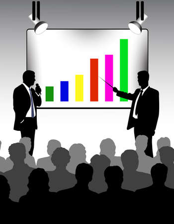 conference call: presentation Illustration