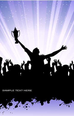 trophy winner: abstract silhouette of the champion Illustration