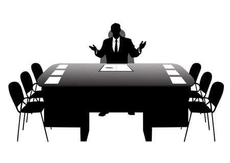 businessman in the office Stock Vector - 18765450