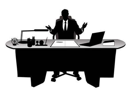 businessman in the office Stock Vector - 18765455