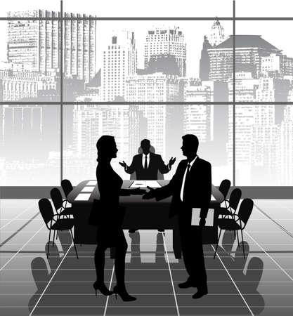 investor: business meeting