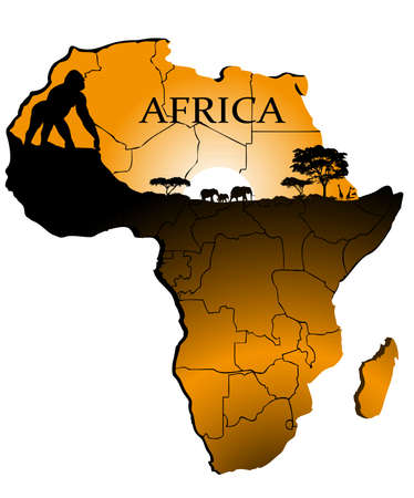 east africa: continent Africa Illustration