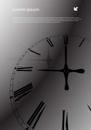 abstract background hours Vector
