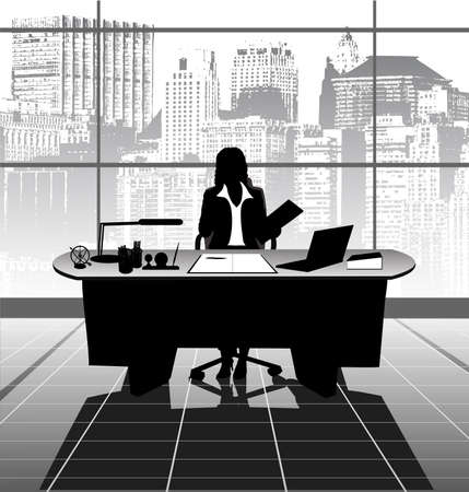 increase business: work at office Illustration