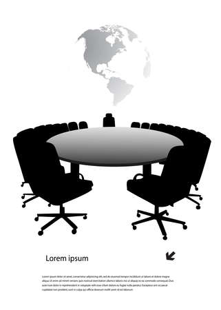 board room: round table Illustration