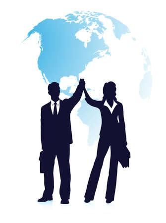 alkalmasság: sziluettek üzletemberek ellen bolygón