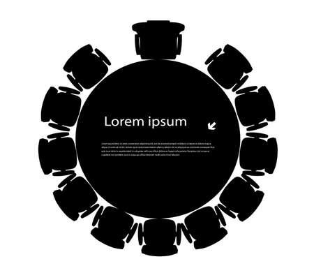 group of objects: ronde tafel voor uw tekst
