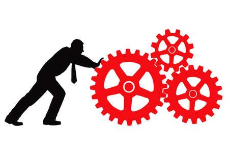 empresario máquinas rotativas