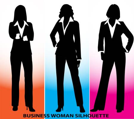 silhouette of business woman Vector