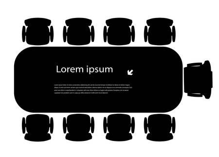 silhouette Tisch für Geschäftstreffen