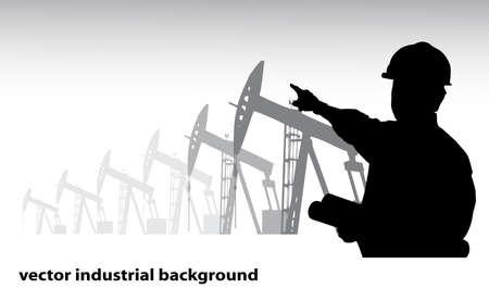 construction management: background industriale Vettoriali