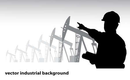 construction management: industrial background Illustration